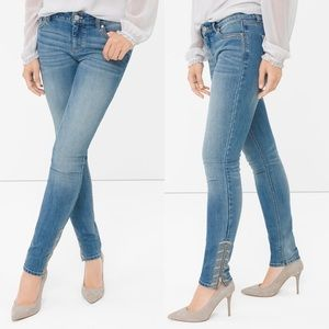 WHBM Embroidered Skimmer Jeans Size 4 Skinny